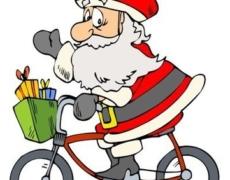 Babbi Natale in bicicletta